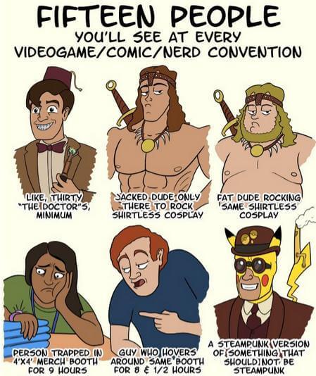 Nerds auf Conventions 1