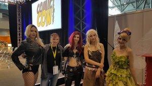 Lilly Fortune, Forever Nerdgirl, Starbit Cosplay, Liechee Cosplay (v.l.n.r.)